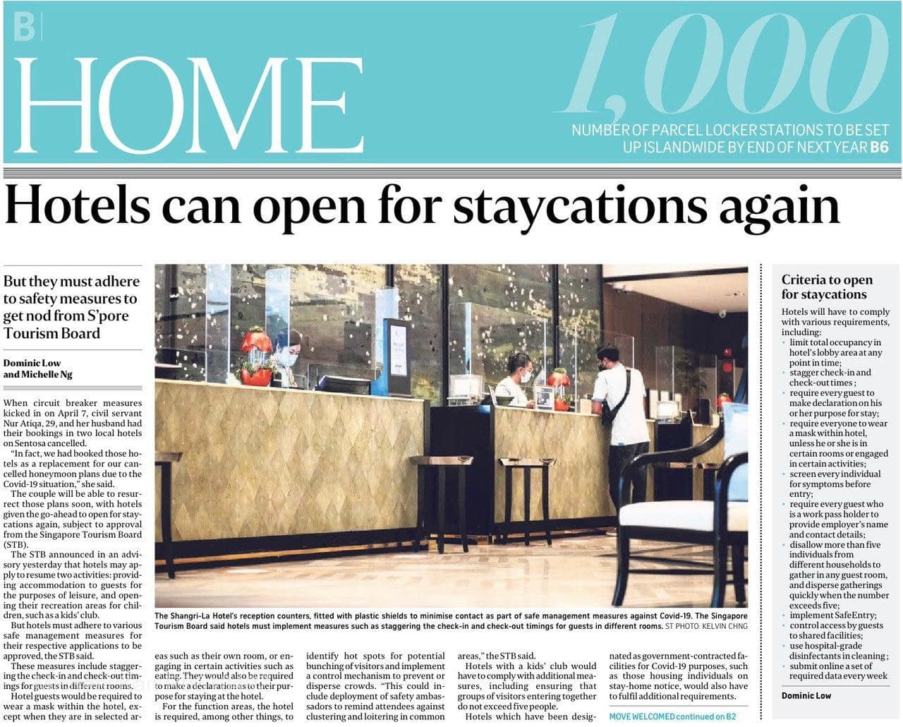 , News Update 06 July:  Coronavirus:  Hotels can open for staycation, Trusted Advisor