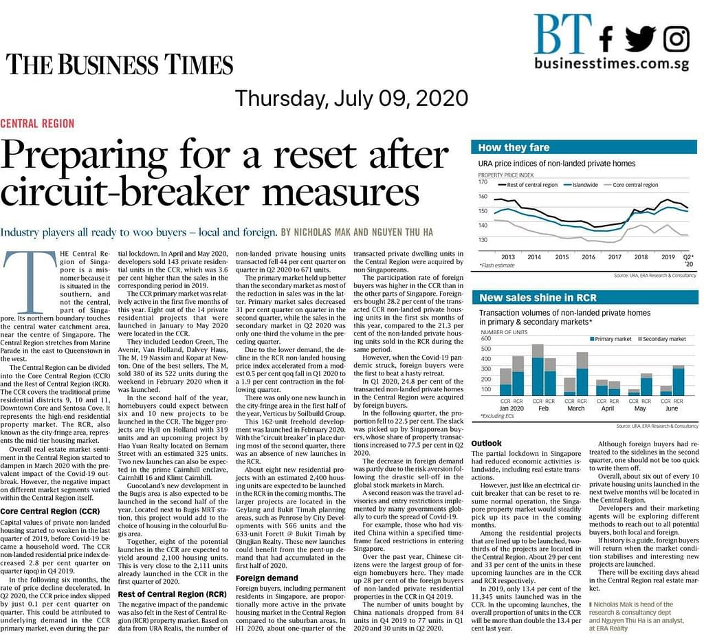 Expectation of discount with new launches in CCR, News Update, 09 July 2020: Preparing for a Reset after circuit – breaker measures, Trusted Advisor